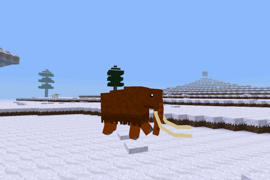A woolly mammoth, Ice Age