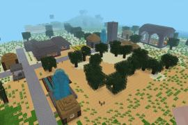 Village generated from houses built by Nore (no additional mods required)