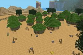 Some grasshuts forming a village (requires the mod dryplants)