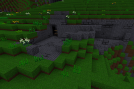 Plants growing near a dungeon.